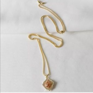 $70 Kendra Scott Kacey Rose Gold Long Necklace